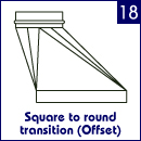 Square to round transition (offset)