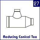 Reducing Conical Tee