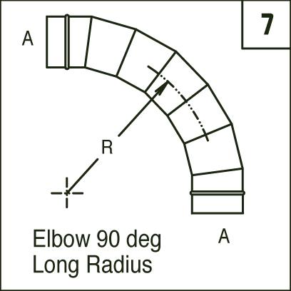 Spirom 233 Ga Inc Elbow 90 Deg Long Radius